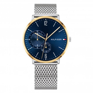 Tommy Hilfiger 1791505 Brooklyn Blue and Silver Stainless Steel Mesh Men's Watch