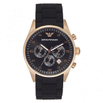 Armani AR5905 Rose Gold & Black Chronograph Men's Watch