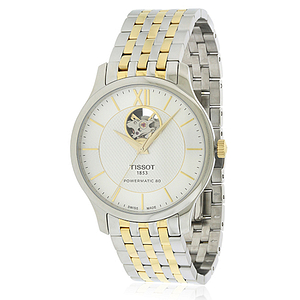 Tissot Tradition Powermatic 80 Open Heart Two-tone Stainless Steel  T0639072203800
