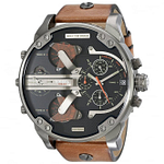 Diesel DZ7332 Mr Daddy 2.0 Black & Brown Leather Chronograph Men's Watch