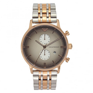 Armani AR1721 Armani Rose Gold-Tone & Stainless Steel Multifunction Mens Watch
