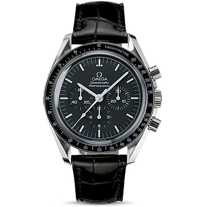 Omega Speedmaster Moonwatch Proffesional Chronograph Steel On Leather Strap